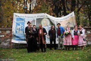 wjazd pomnika jana iii sobieskiego - delegacja z podegrodzia