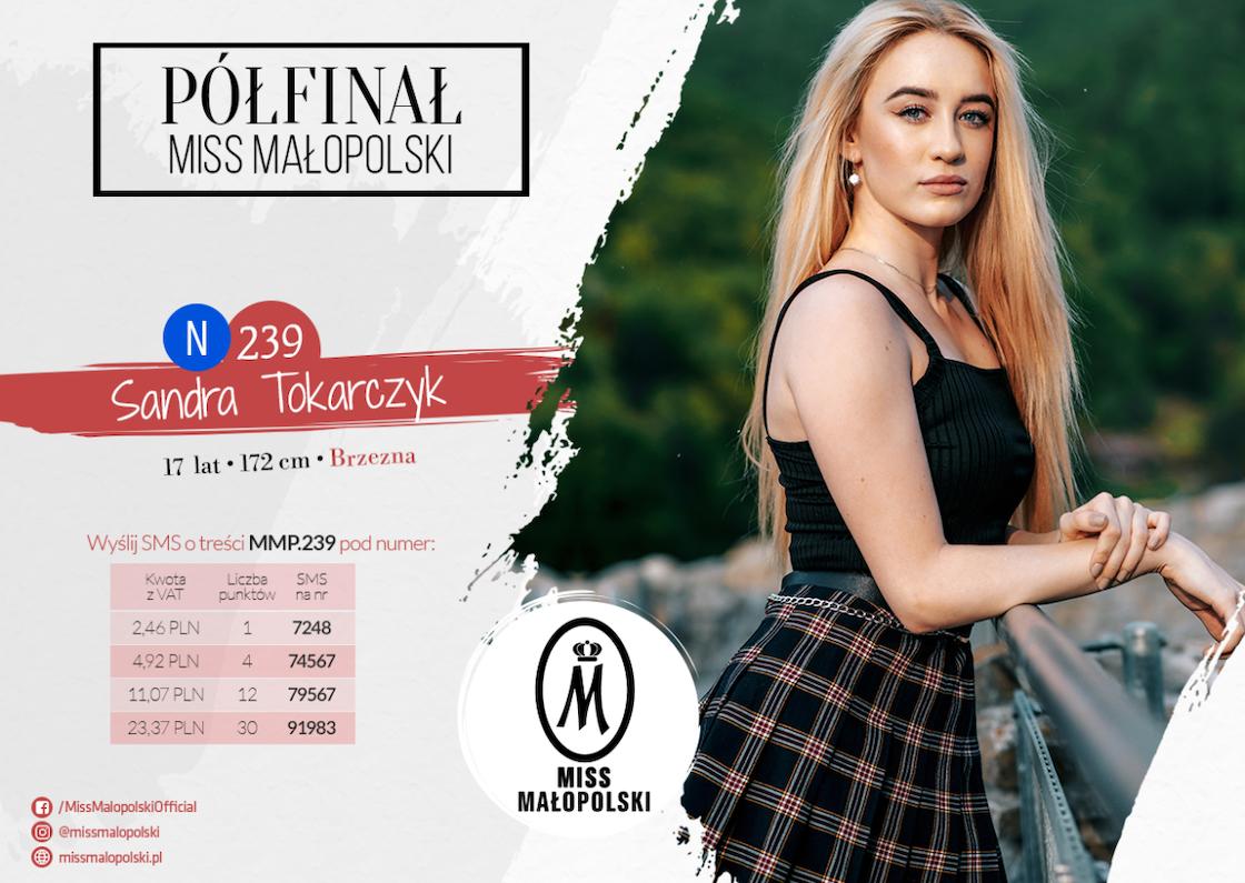 Miss Małopolski - Sandra Tokarczyk