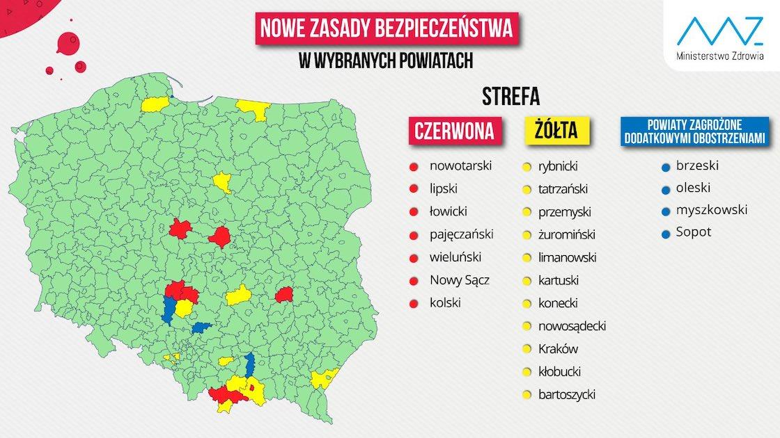 Powiat nowosądecki nie jest już czerwoną strefą.