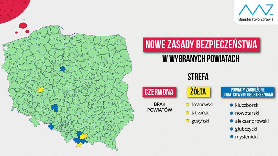 Gmina Podegrodzie i powiat nowosądecki w zielonej strefie