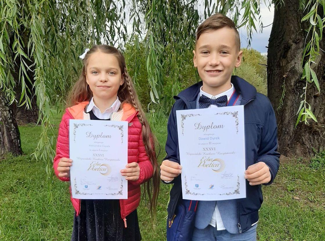 Konkurs recytatorski - sukces uczniów Szkoły Podstawowej w Podegrodziu