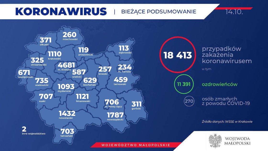 Koronawirus Małopolska