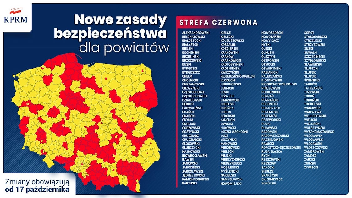 Nowe obostrzenia, powiat nowosądecki w czerwonej strefie