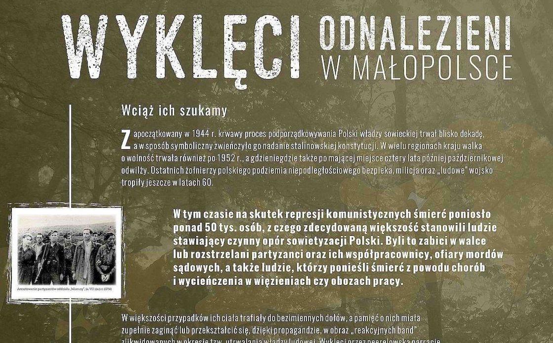 """""""Wyklęci odnalezieni w Małopolsce"""" - wystawa"""
