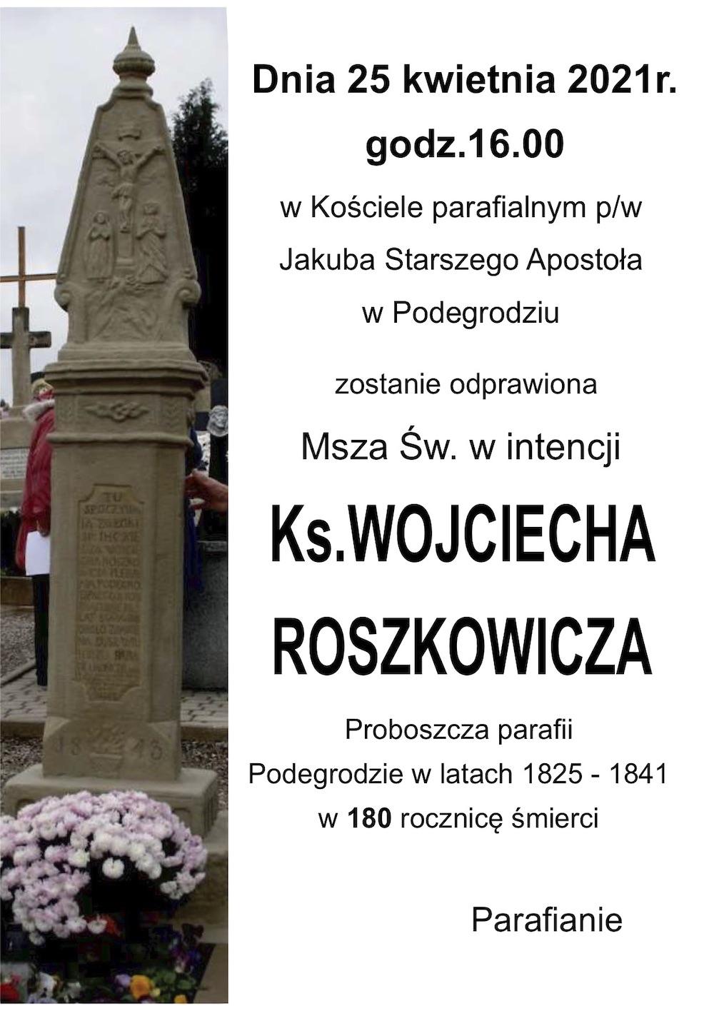 Ks. Roszkowicz, proboszcz parafii Podegrodzie