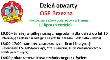 Dzień Otwarty OSP Brzezna